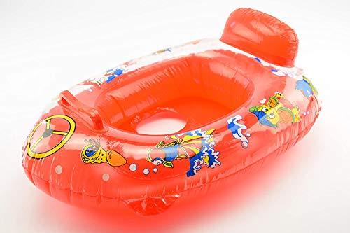 OKCS Gummiboot für Kinder Schlauchboot Pool Schwimmen Strandboot Junior Schwimmbad Badespaß - in Rot