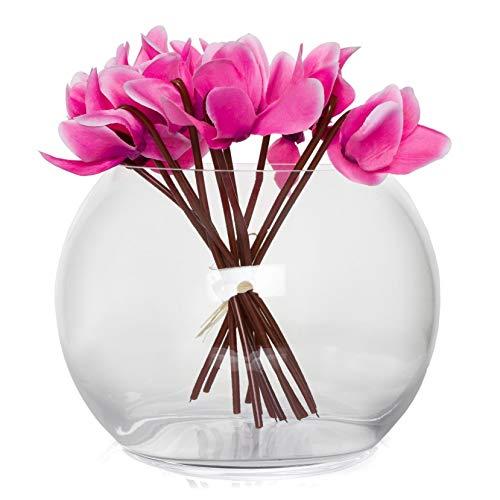 SOLAVIA glas ronde vis kom vaas 2 liter 19 x 15cm Sphere Rita Home Decor housewarming cadeau