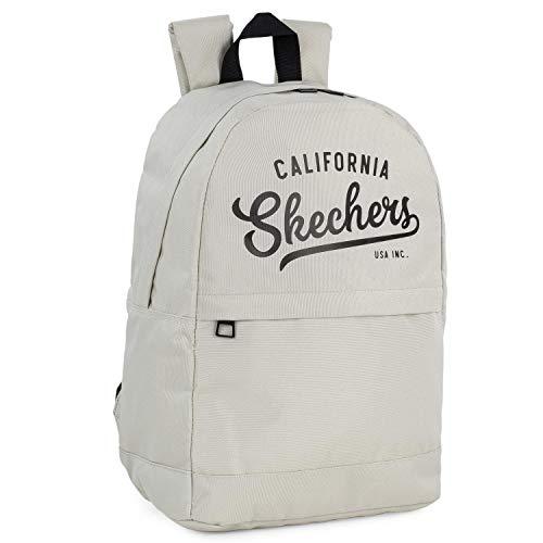 SKECHERS - Rucksack. Lässige Tasche. Unisex. Innentasche für Ipad/Tablett. Ideal für den täglichen Gebrauch. Praktisch, komfortabel, vielseitig und leicht S905, Color Tapioka