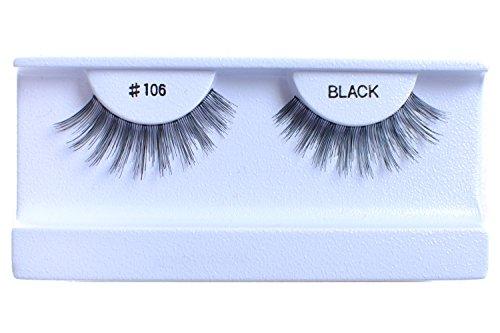 10 Pairs 100% Human Hair False Eyelashes Natural Black #106