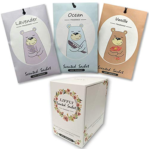 14 Packs Scented Sachets fit Drawer and Closet Lavender Vanilla Ocean 3 Different Scent