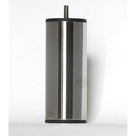 ACCESSOIRES-LITERIE Patas de Cama de Metal níquel Satinado Altura 150 (4 Piezas)
