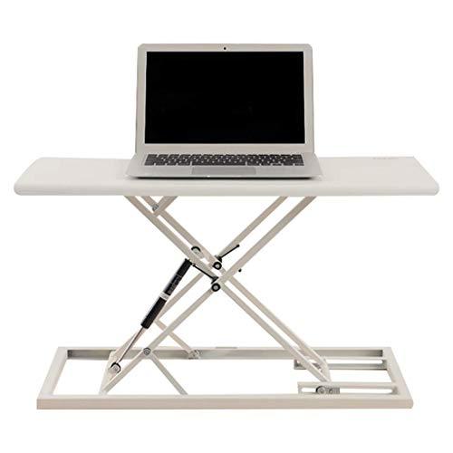 HEWEI Desks Thuiskantoor Meubels Computer verstelbare kantoor werkstation PC gaming tafel Ergonomische desktop converter Verticale display riser 23,6 * 13,8 inch (kleur: zwart grootte: 68 * 37 cm)
