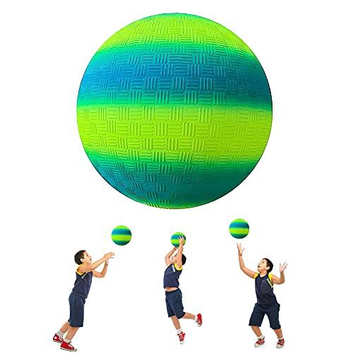 ARVOV PVC Bouncy Kickball, PVC Regenbogen Ball, Kinder Spielball, Wasserball Fußball, Strandball, PVC Ball für Indoor Outdoor 8,5-Zoll - Blau und Gelb
