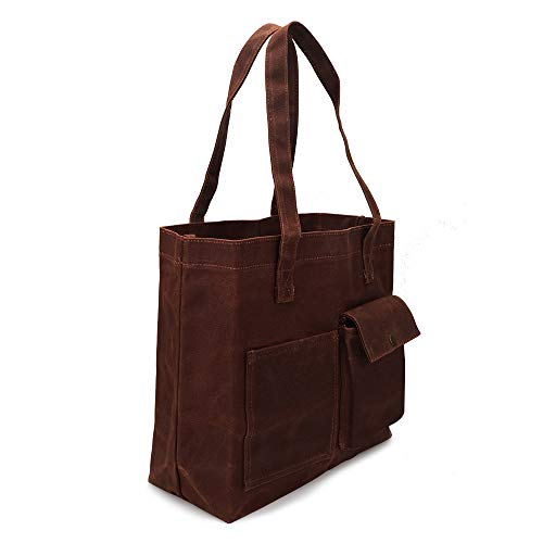 Trumno Reusable Grocery Bag, Heavy Duty Canvas Tote Bag, Reusable Shopping Bags, Waxed Canvas, Biodegradable, Foldable and Eco Friendly
