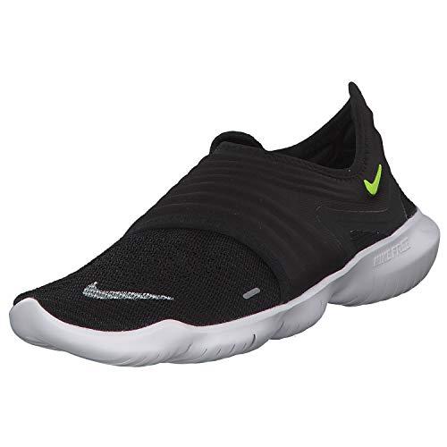Nike Men's Free Rn Flyknit 3.0 Track & Field Shoes, Multicolour (Black/Volt/White 000), 7 UK