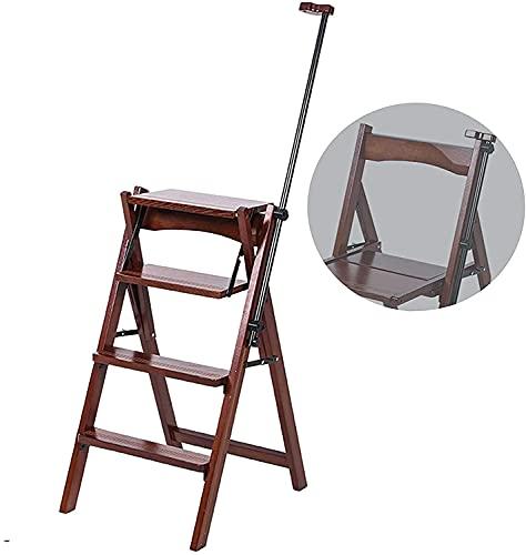 Taburetes de camas para camas altas Escalera plegable de escaleras, escalera de madera de madera maciza Silla de escalera de doble propósito de doble paso, reposabrazos multifuncional Ligera ligera Ta 🔥