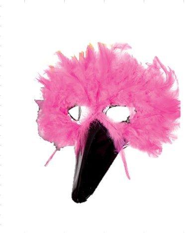 Federdomino, Vogelmaske, sortierte Farben, Maske, Karneval, Mottoparty, Accessoire (pink)