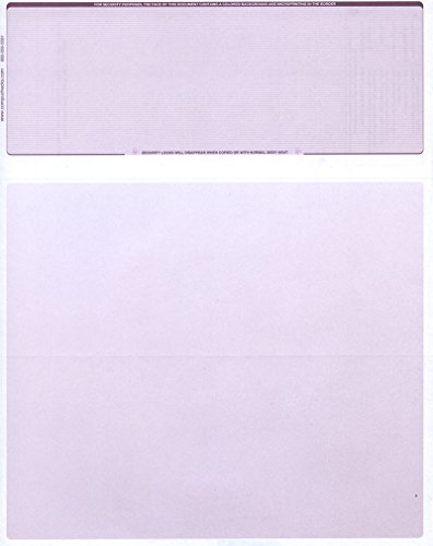 250 Blank Check Stock - Check on Top Business Voucher - Burgundy Pinstripe