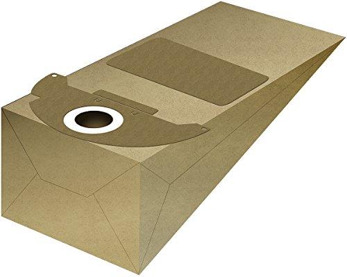 McFilter 10 Staubsaugerbeutel geeignet für Kärcher Staubsauger 2501, 2601, 3001, NT181, Puzzi 90, SE3001, WD2500M