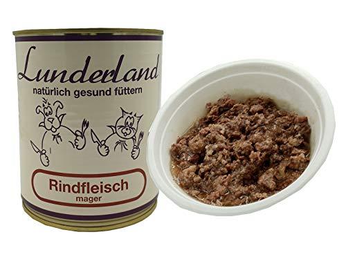 Lunderland Rindfleisch mager 2X 800g Dose (insg. 1,6kg) / 100% Rindfleisch, von Hand entfettet