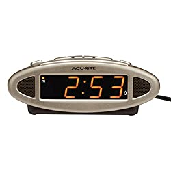 AcuRite 13027A Intelli-Time Digital Alarm Clock,Black