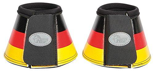Harry\'s Horse Hufglocken Flag Springglocken Neopren Diverse Landesfarben außen PU Klett (L, Deutschland)