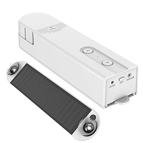 Smart Blind Roller Motor Electric Curtain Chain Roller Shade Drive with Solar Panel Tuya Smart APP, Support Alexa Google Home Control, Smart Home Devices, Smart Motorized Shade Motor