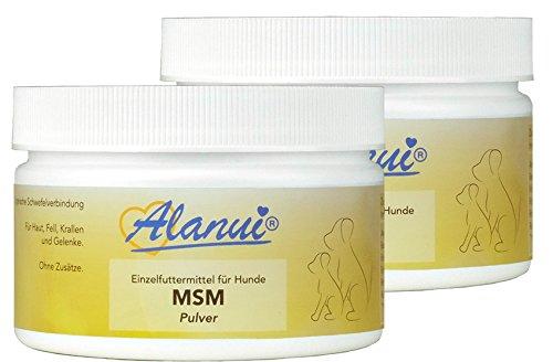 alanui MSM Methylsulfonylmethan, Einzelfuttermittel für Hunde, 2er Pack (2 x 100 g)