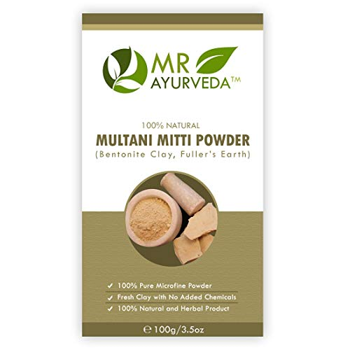 MR Ayurveda 100% Organic Multani Mitti Face Pack, Complete Skin Care (100 Gm)