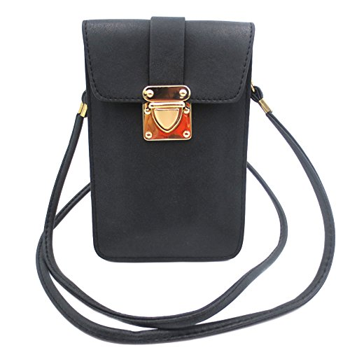 Toniker PU Leather Small Crossbody Bag Cell Phone Purse Wallet for iPhone X 8 8Plus 7 7Plus Samsung Galaxy S8/S7/S6/S5