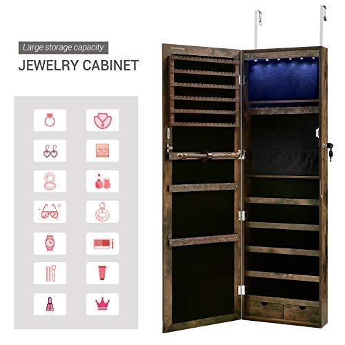 SONGMICS 6 LEDs Cabinet Lockable 47.3