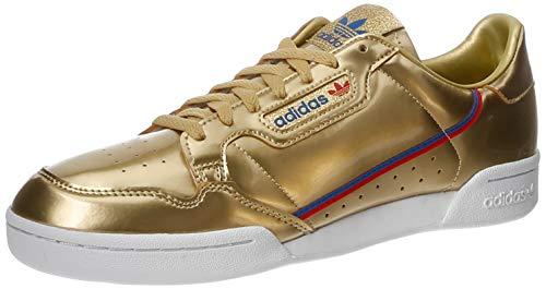 adidas Continental 80, Zapatillas de Gimnasio Hombre, Gold Metallic/Gold Metallic/Crystal White, 40 2/3 EU