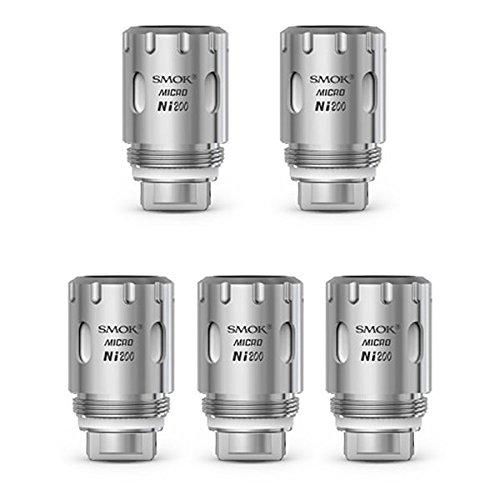 Authentische SMOKTech 5Pcs 0.1ohm 420'F-600'F Micro TFV4 Micro Coil-Kopf-Silber (Ni200)