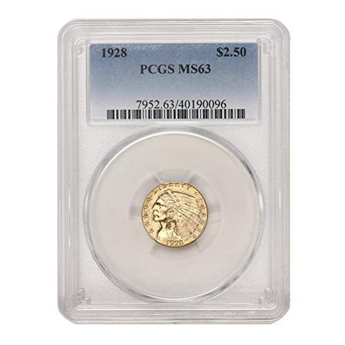1928 American Gold $2.50 Indian Head Quarter Eagle MS-63 by CoinFolio $2.50 MS63 PCGS