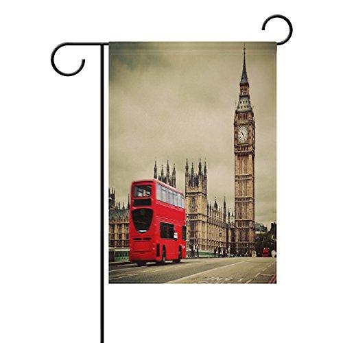 COOSUN London Symbolen Polyester Tuin Vlag Outdoor Vlag Thuis Party Tuin Decor, Dubbelzijdig, 12