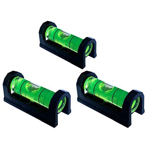 Taskar Lot de 3 mini niveaux à bulle magnétiques 37 mm pour supports TV etc.