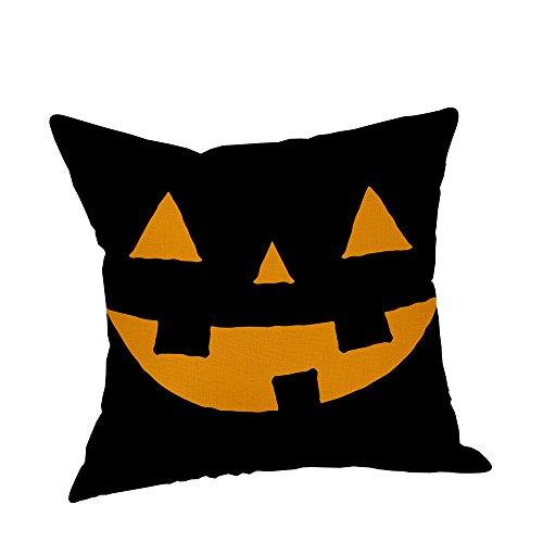 wffo Funda de Almohada, Fundas de Almohada de Halloween, Fundas de Almohada de Lino, sofá, Calabaza, Fundas de cojín, decoración del hogar