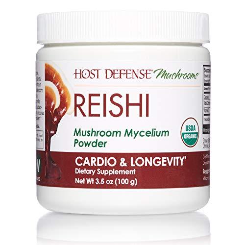 Host Defense, Reishi Mushroom Powder, Supports Energy, Cardiovascular Health and Stress Response, Certified Organic Supplement