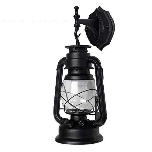 wandlampe retro metall antik wandleuchte vintage lampen landhausstil für landhaus schlafzimmer wohnzimmer esstisch glas, dachboden, terrasse, restaurant, café (A)
