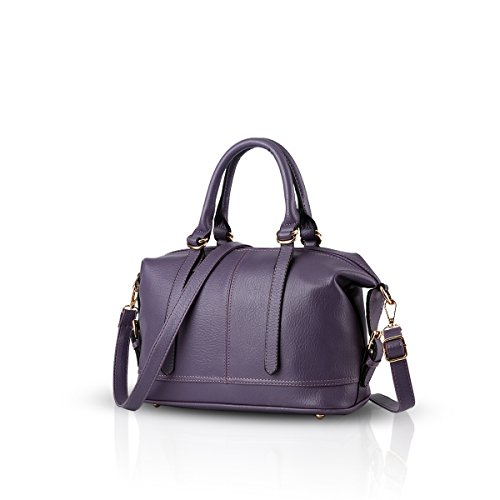 Nicole&Doris 2016 borse di modo casuale -retro- borsa tracolla Messenger Bag donna(Purple)