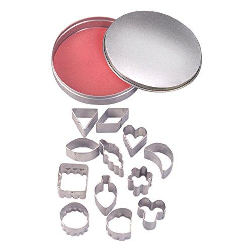 Efco Assortiment de Emporte-Pièces, en métal, Argent, 10/2–3,2 cm, Lot de 13