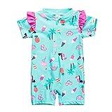 Wishere Baby Jungen Mädchen Badeanzug Sonnenschutz LSF30+ - Grün - 80