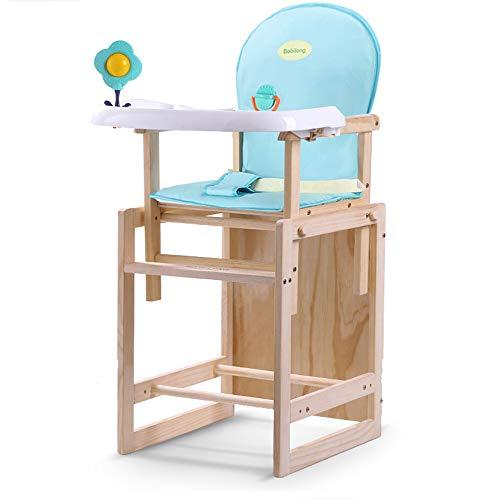 Children's chair Chaise de bébé/en Bois Massif pour bébé/Table Multifonction/siège Enfant, Style: B, Coussin