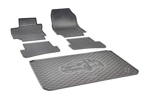 Passende Gummimatten und Kofferraumwanne Set geeignet für Renault Captur ab 2013 EIN Satz + Gurtschoner