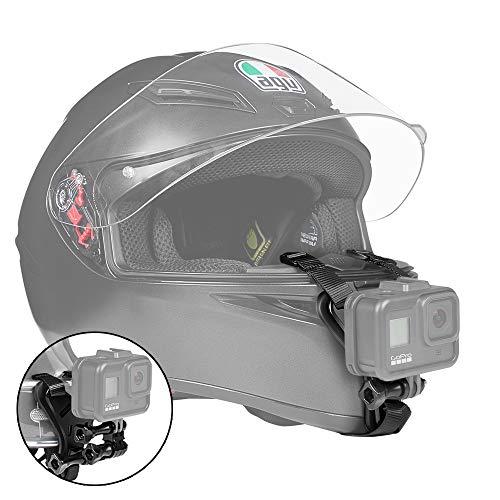 【Taisioner】オートバイヘルメット用下顎ストラップマウント ヘルメットチンホルダー Vlog撮影必要 ブラック