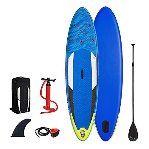 Tabla De Paddle Surf Hinchable,Unisex Tabla SUP Paddleboard Kit,Stand Up Paddle Board,15 CM De Espesor,Kayak,Almohadilla Integrada,Accesorios Completos,320 * 81 * 15cm