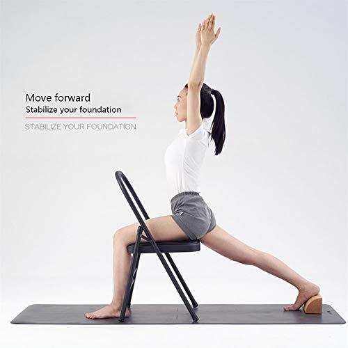 Huishoudelijke Yoga Stoel, Yoga Inversion Kruk, duurzaam en slijtvast niet gemakkelijk te breken Stabiel, Diverse Poses geschikt voor Yoga Ideaal voor Perfect Body,Black