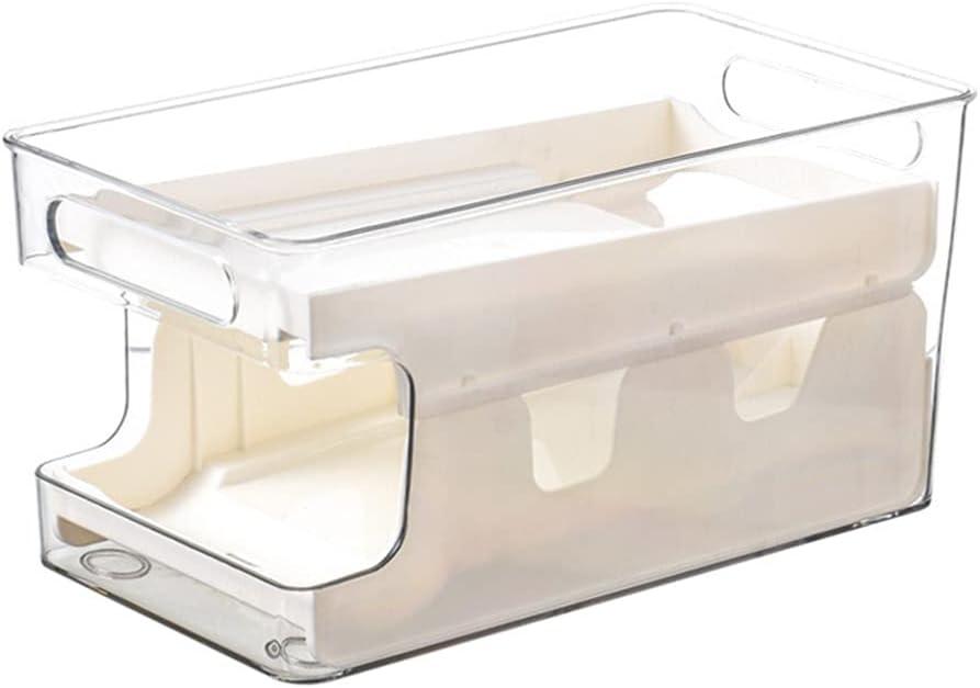 Max 48% OFF HEMOTON Refrigerator Organizer Bins Branded goods Roll Double- Automatic Layer