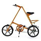 ZHIFENGLIU Adulto Bicicleta Plegable, Vehículo Recreativo 16 Pulgadas, Scooter De Freno De Disco De Aleación De Aluminio