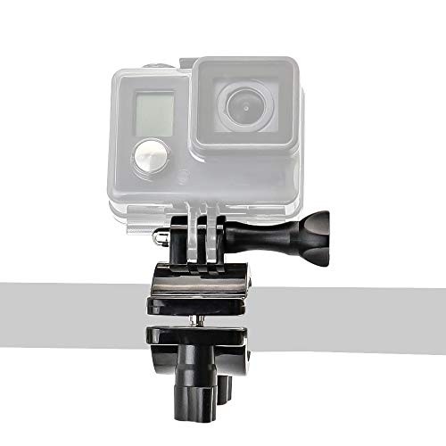 woleyi Fahrrad Lenker Halterung für GoPro Hero, 20–35mm Lenker Kamerahalterung, 360 Grad Motorrad Bike Mount für GoPro Hero 7 6 5 4 3+ 3, Canon, Nikon, Sony und andere Actionkameras