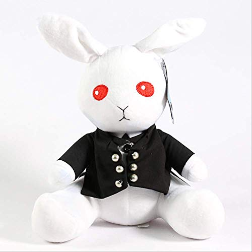 N\a Black Butler Plüschtier Amime Ciel Phantomhive Sebastian Michaelis Kaninchenpuppe Cosplay Niedlichen Weichen Kissen Als Geschenk Weiß