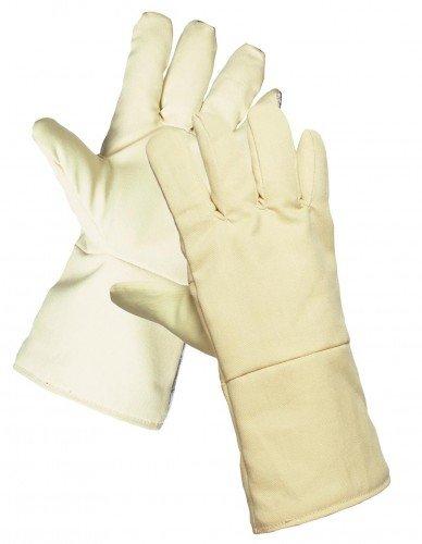 SCAUP Feuerschutzhandschuhe, 3-Schichtiger Hitzeschutzhandschuh ARAMID-Gewebe 40 cm