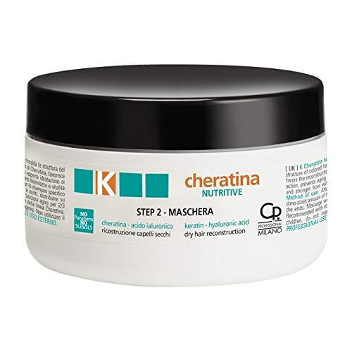 K-Cheratina - Nutritive Repair Maschera con Cheratina - Ricostruzione a Base di Cheratina per Capelli Secchi e Rovinati - Formula Arricchita con Acido Ialuronico - Step 2 - Flacone da 300 ml