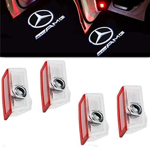 4 X LED Coche puerta logotipo de la sombra de luz Lámparas...