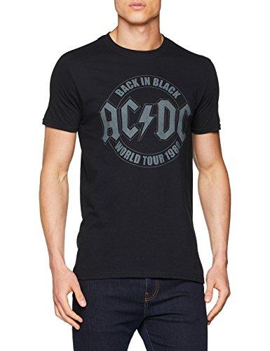 AC/DC Tour Emblem Camiseta, Negro (Black Blk), XL para Hombre