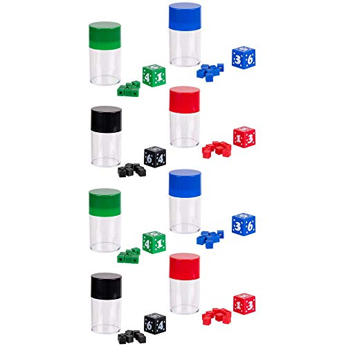 The Dreidel Company Magic Dice Trick, Variety of Colors, Party Favor 2.75' (4-Pack)