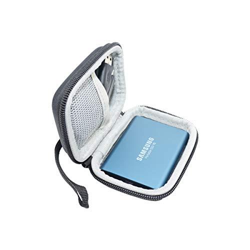 SANVSEN Custodia Rigida Protettiva Carry Bag Cover per Samsung T5 or T3 or t1 Portable 250 GB 500 TB TB SSD USB 3.0 unità Stato Solido Esterne