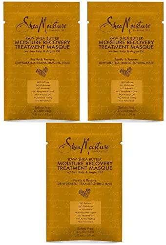 Shea Moisture Raw Shea Butter Moisture Recovery Treatment Masque 2oz 3 Pack product image