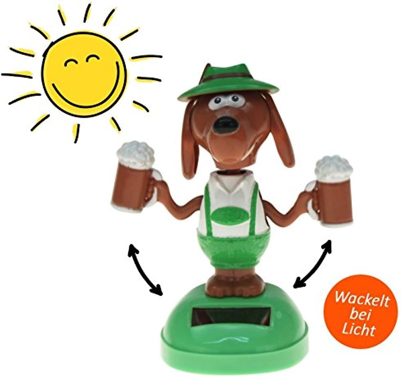 Kingdiscount 72 Stück Solar-Figur Dancing Beer Dog 10 cm